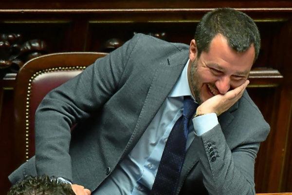 Matteo Salvini en una sesión del Congreso, en Roma.