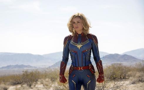 Brie Larson en una escena de 'Capitana Marvel'.