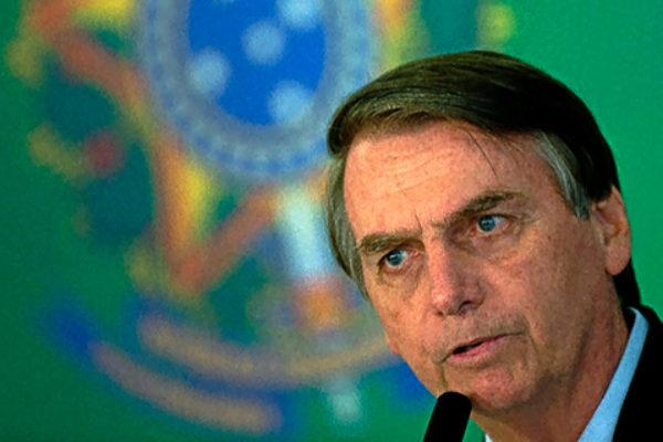 El presidente de Brasil, Jair Bolsonaro, en Brasilia.