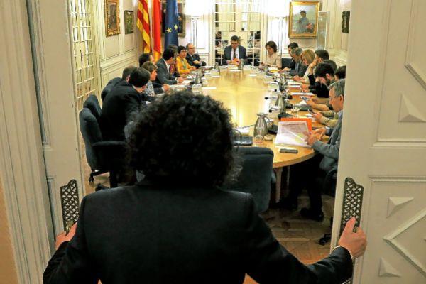 La última reunión de la Junta de Síndics que presidió Enric Morera el pasado martes.
