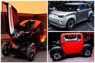 De izqda a dcha: Seat Minimó, Fiat Centoventi y Citroën Ami One.