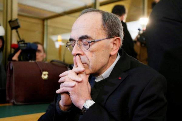 El cardenal Philippe Barbarin, arzobispo de Lyon, durante el juicio el pasado enero.