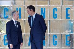 Pedro Sánchez e Iñigo Urkullu en la inauguración de la Conferencia Internacional.