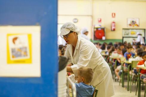 Comedor escolar en Madrid.
