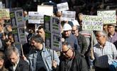 Trabajadores de La Naval, en la manifestación.