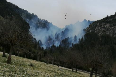 El incendio de Son Ordines fue provocado por una quema de rastrojos
