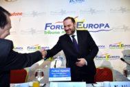 José Luis Ábalos, durante el foro informativo en el que ha participado este jueves en Almería.
