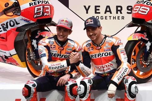 Márquez y Lorenzo en la presentación de Honda.