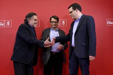 Pepu, De la Rocha y Dávila, antes del debate, este jueves.