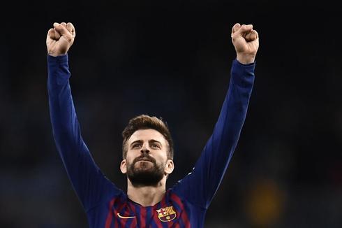 Gerard Piqué celebra la última victoria del Barcelona ante el Real Madrid