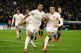 Rashford celebra el gol del pase del Manchester United.