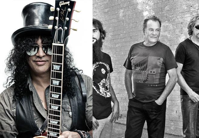 Slash (izda.) y José Luis Jiménez (bajo y voz de Asfalto).