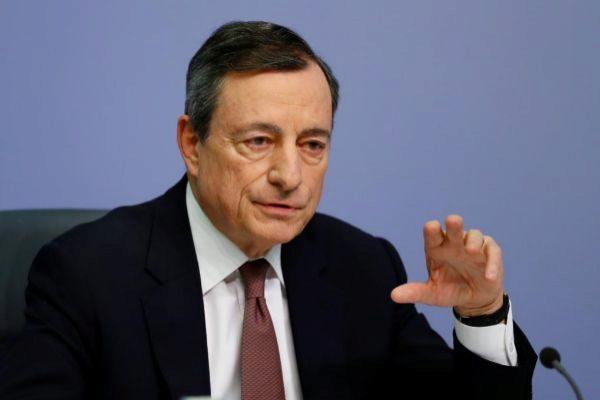 El presidente del BCE, Mario Draghi, en su comparecencia este jueve.