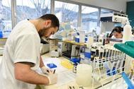 Laboratorios del Instituto de Investigación del Sida IrsiCaixa de Barcelona.