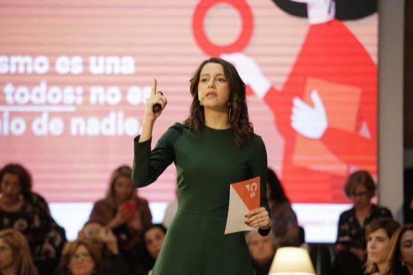 Inés Arrimadas en el Acto de Ciudadanos Feminismo Liberal en Madrid