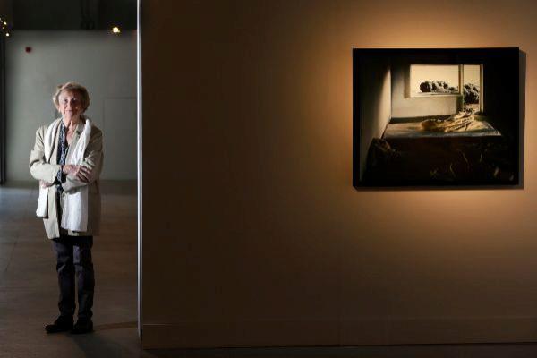 Pilar Citoler, en la exposición de Cigarreras.