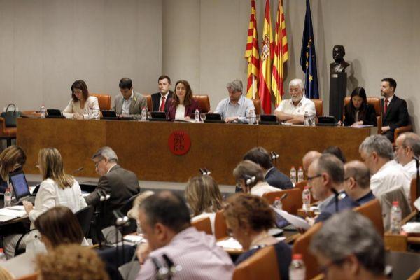 Imagen de archivo de un pleno de la Diputación de Barcelona