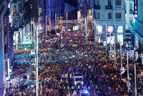 Manifestación del 8 de marzo de 2018 en las calles de Madrid.