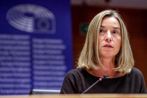 Federica Mogherini asiste al Congreso Contra la Pena de Muerte.