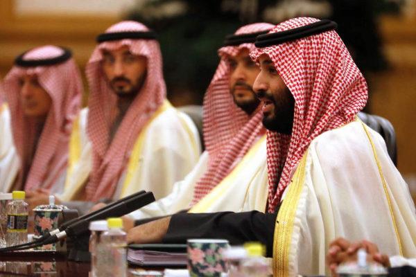 Mohamad bin Salman, durante una reunión con Xi Jinpinig.