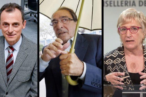 Los números uno del Congreso, Senado y las Cortes Valencianas, Pedro Duque, Ángel Franco y Ana Barceló.