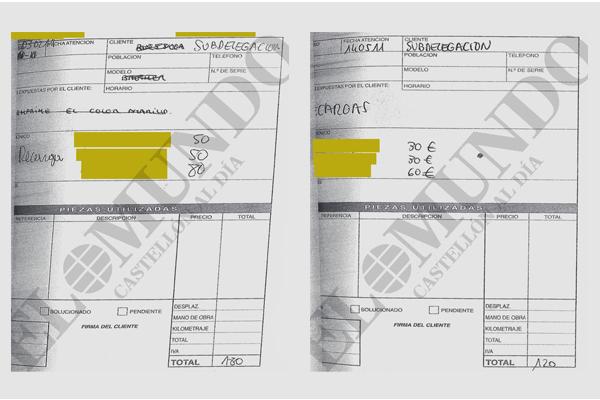 Facturas de material de ofimática instruidas en el caso.