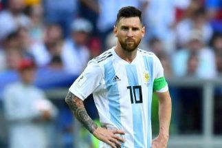 Leo Messi, durante el Francia - Argentina del Mundial.