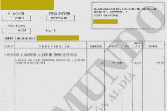 La factura muestra el alquiler de material de oficina que no se usó.