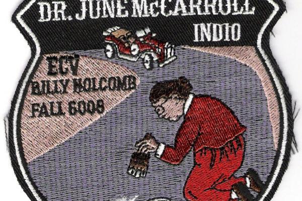 Parche conmemorativo de June McCarroll y su iniciativa