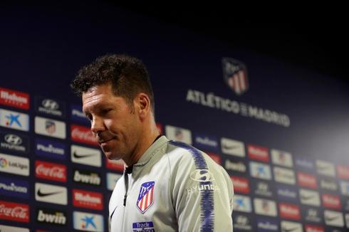Diego Pablo Simeone, en la sala de prensa.