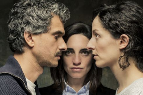 Pablo Rodríguez, Nahia Láiz y María San Miguel, actriz, autora y directora de El proyecto 43-2