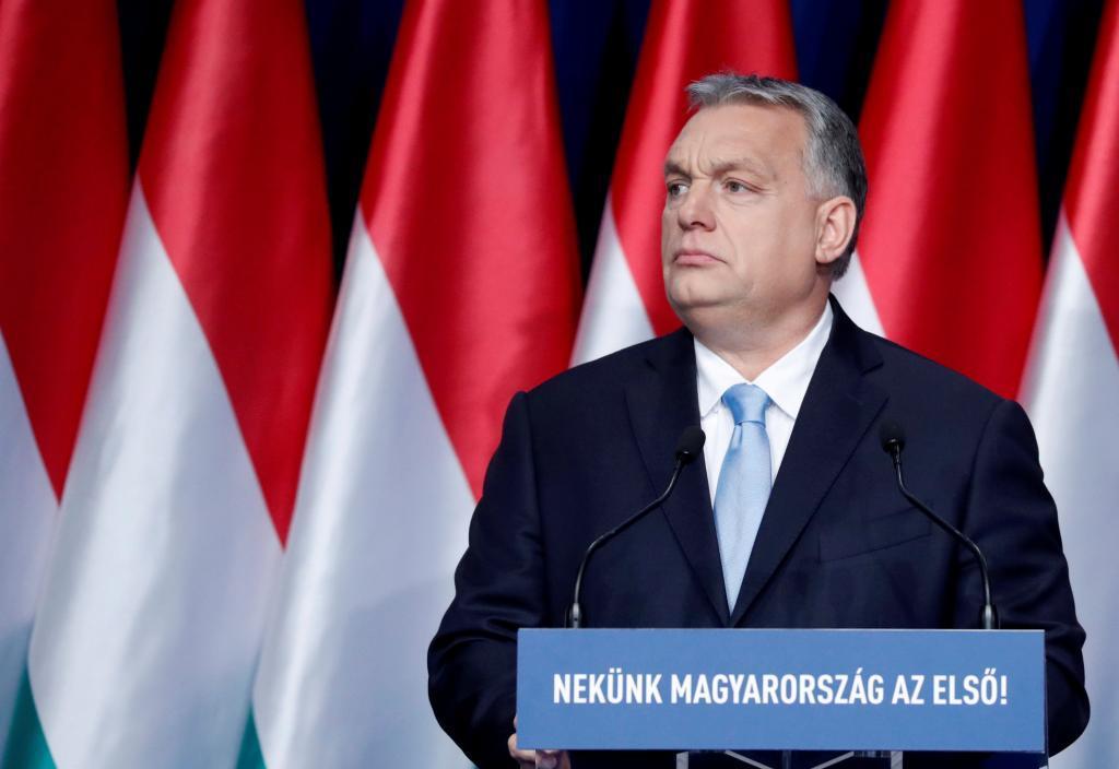 El 'premier' húngaro, Viktor Orban, da su discurso anual en Budapest.