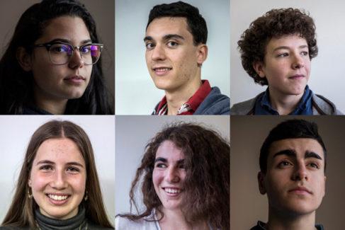 De izq. a dcha., Beatriz, Juan, Rodrigo, Carlota, Minerva y Carlos