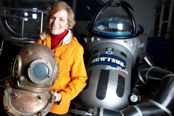 La oceanógrafa Sylvia Earle, durante una entrevista