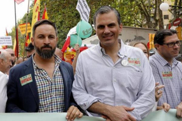 Representantes de Vox en un acto en Barcelona el pasado septiembre