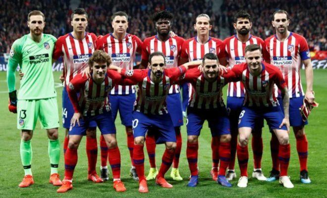 El equipo inicial del Atlético, en el duelo de ida ante la Juventus.