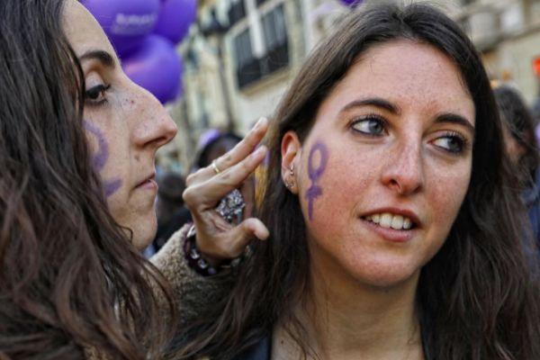 Barcelona, 08 de Marzo de 2019 Manifestacion feminista por la huelga general del 8 de Marzo, dia internacional de la mujer trabajadora.