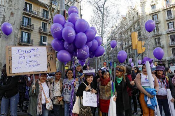 Barcelona, 08 de Marzo de 2019 Manifestacion feminista por la huelga...