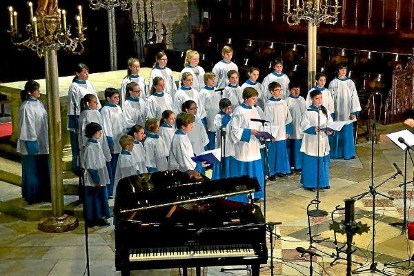 Imagen de archivo de un concierto de la Escolania en el Santuario de Lluc.