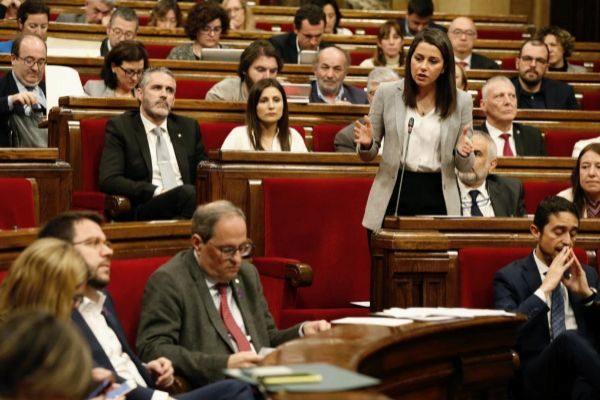 Arrimadas en el pleno del Parlament