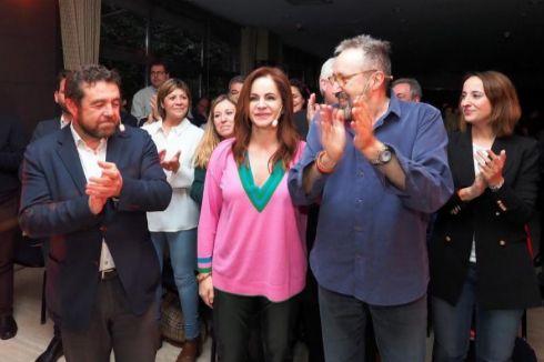 Silvia Clemente, respaldada por Gutiérrez y Girauta, el pasado jueves.