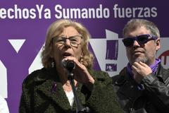 Manuela Carmena, en los actos del 8-M.