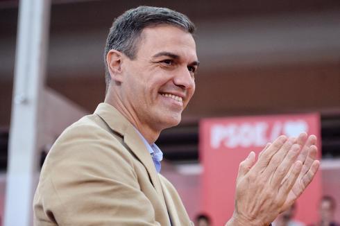 Pedro Sánchez, en el acto de precampaña este sábado en Valladolid.