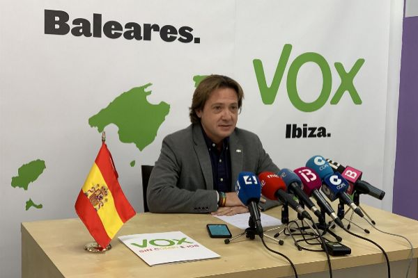 Jorge Campos, líder de Vox en Baleares.