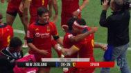 Los jugadores de España celebran su victoria ante Nueva Zelanda.