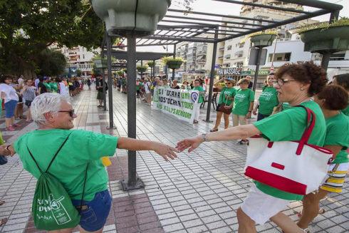 Concentración de Kellys -camareras de piso- en Ibiza.
