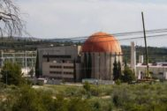 Desmantelamiento de la central nuclear de Zorita (Guadalajara).