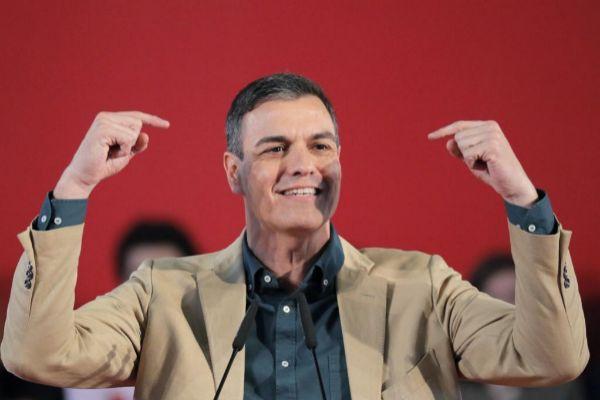 Pedro Sánchez, durante el acto que el PSOE ha celebrado en La Coruña.
