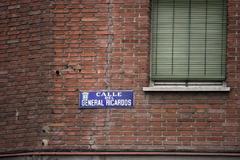 La calle General Ricardos, donde ocurrió el suceso.