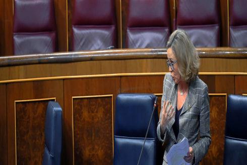 Nadia Calviño, en el Congreso antes de la convocatoria de elecciones.